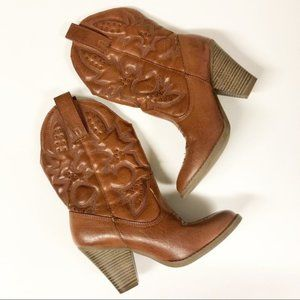 Target Studded Faux Leather Cowboy Boots